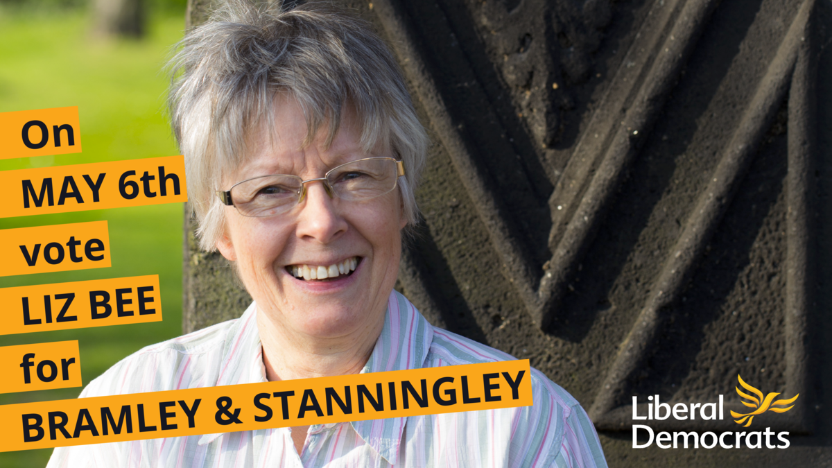 Use your postal vote for Liz Bee for Bramley & Stanningley